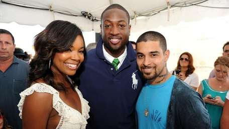 Gabrielle Union, Dywane Wade and Wilmer Valderrama at
