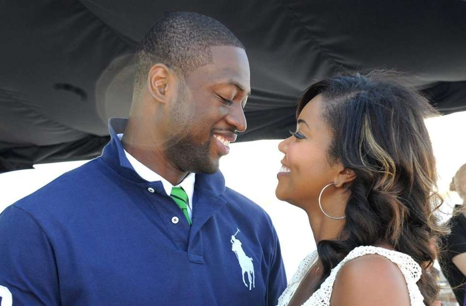 Dywane Wade and Actress Gabrielle Union at SWAGG