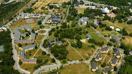 Stony Brook University's Southampton campus is seen in