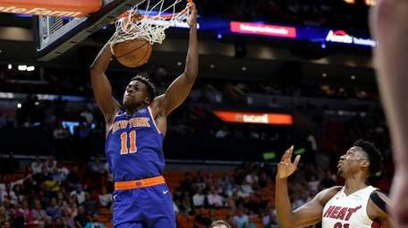The Knicks' Frank Ntilikina finally got to start