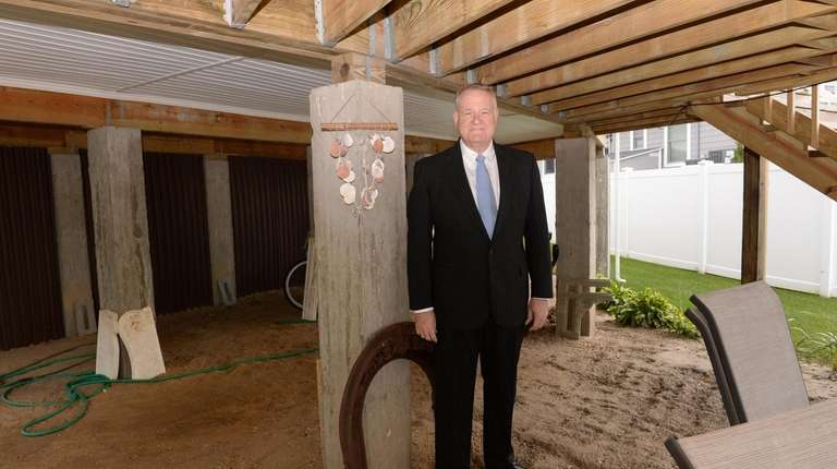Superstorm Sandy victim Arthur Strachman at his reconstructed