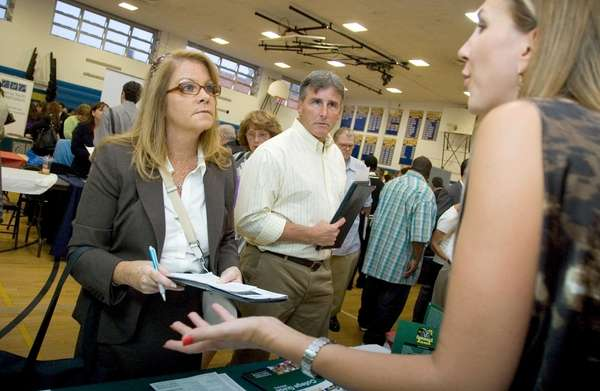 Hundreds of Long Islanders seeking jobs attended a
