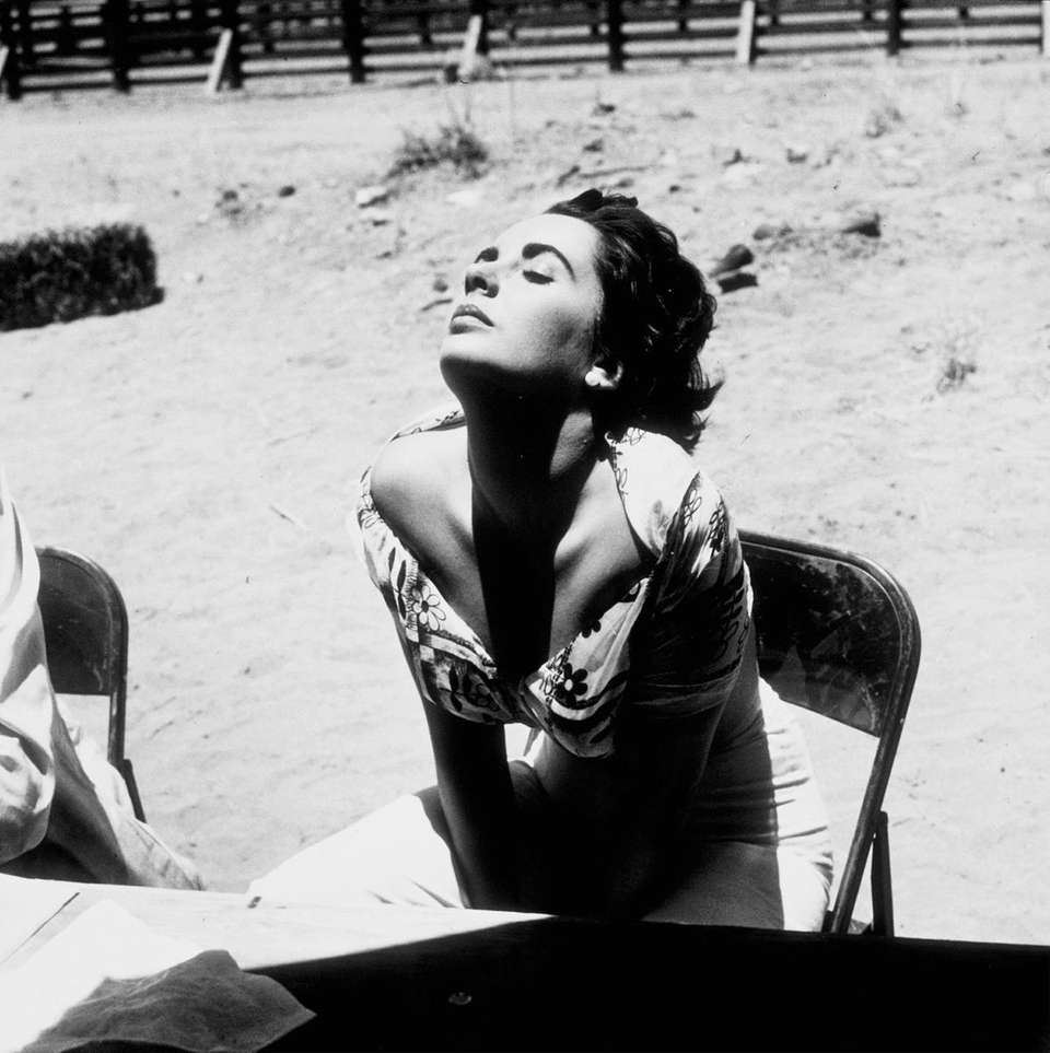 One of the images of Elizabeth Taylor from
