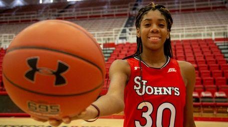 St. John's women's basketball freshman Kadaja Bailey at