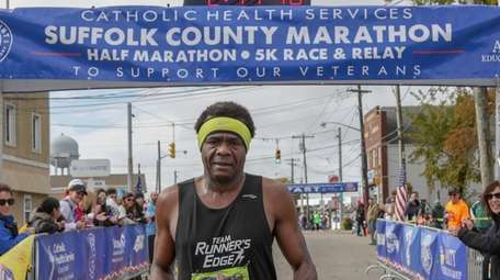 Boyd Carrington, 46, of Amity, finishes first Sunday