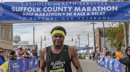 Boyd Carrington, 46, of Amity, finishes first Sunday