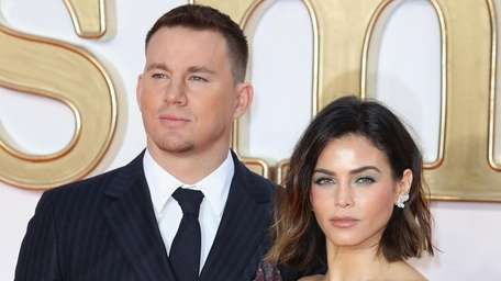 Channing Tatum and Jenna Dewan, pictured in London