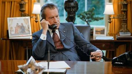 President Richard Nixon in the Oval Office on