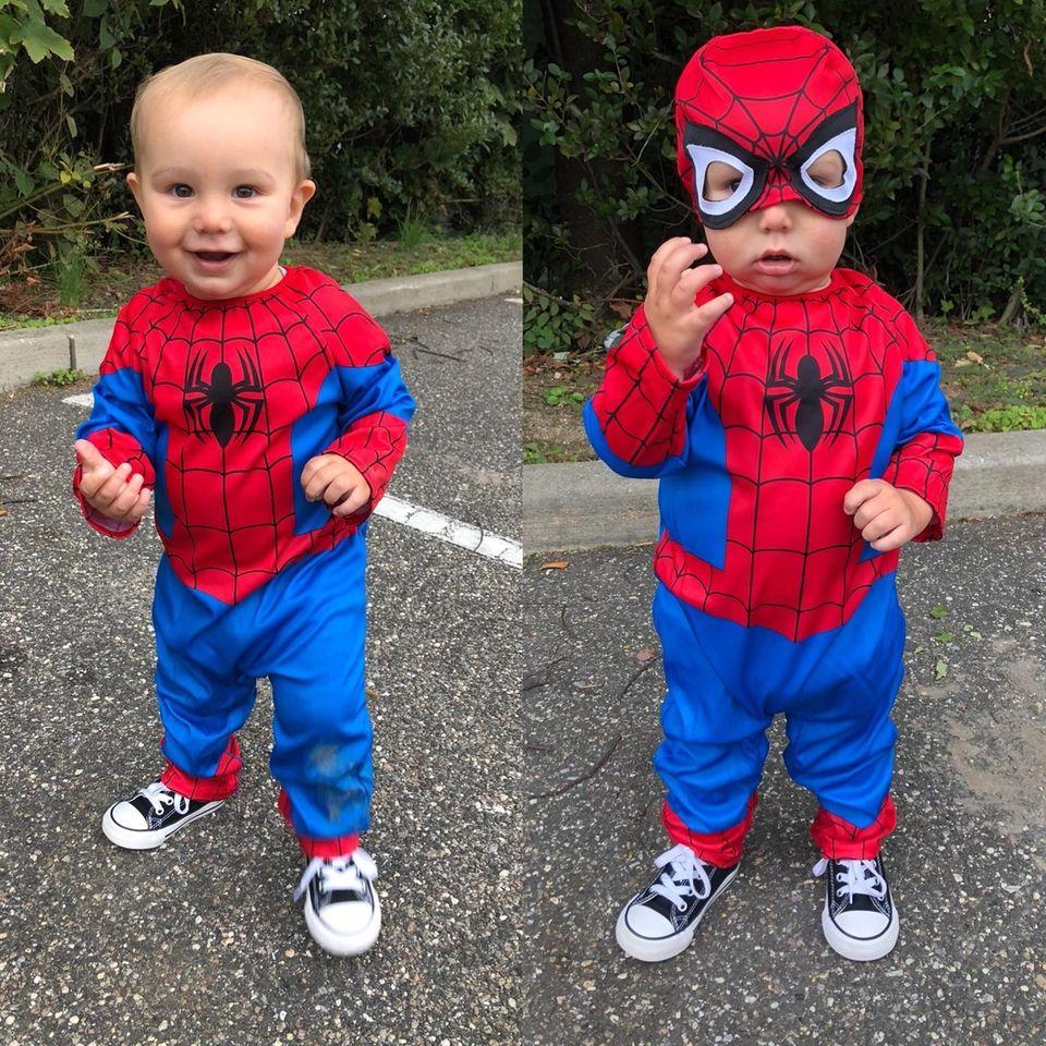 christmas halloween · brown lloyd wig · uni kids elf costume · spider .