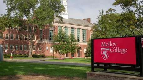 Students at Molloy College complained in September they