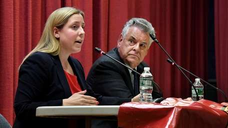 Democrat Liuba Grechen Shirley and Republican Rep. Peter