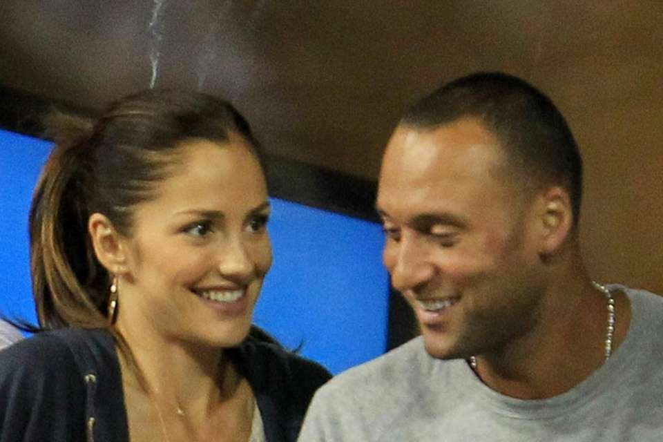 Actress Minka Kelly and Derek Jeter of the