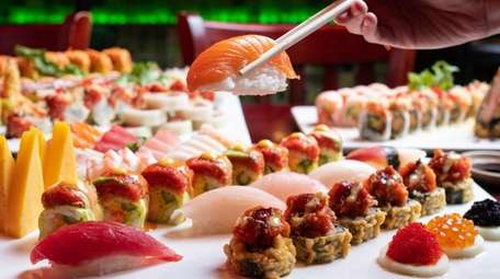 All-you-can-eat sushi at Tang Dynasty in Ronkonkoma.