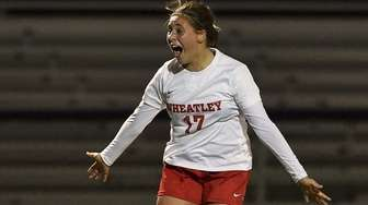 Wheatley's Lexi Burke reacts after scoring the game-winning