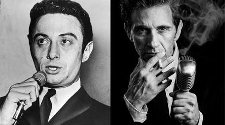 Mineola-born comedian Lenny Bruce, left, is portrayed by