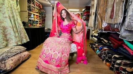 Jessica Singh, 28, of Levittown models an intricately