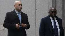 Former sports talk radio host Craig Carton, left,