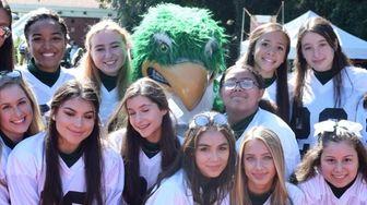 Locust Valley High School varsity cheerleaders hang out
