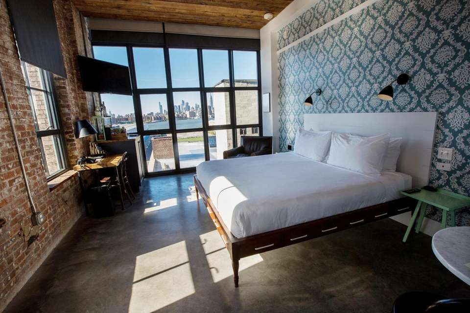 A guest room on the 5th floor of