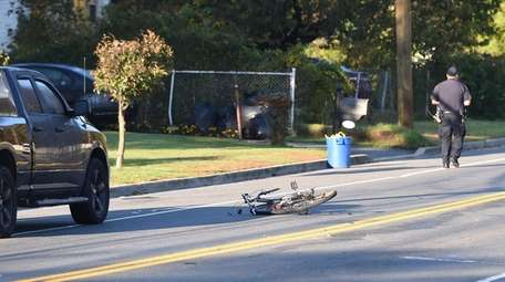 A bicyclist was fatally struck by a pickup