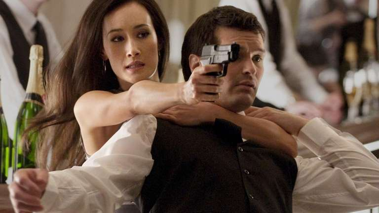 Maggie Q, left, plays the title character in