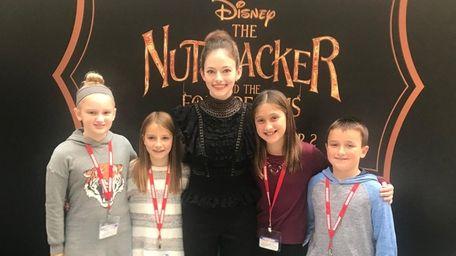 Kidsday reporters Mackenzie Kruger, left, Caitlin McDonald, Mackenna