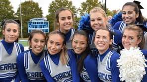 Herricks High School cheerleaders hang out during homecoming