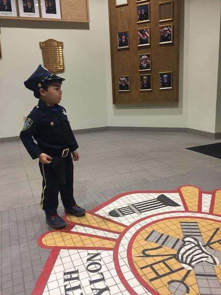 Officer Dylan Chance Garcia at the Babylon Fire