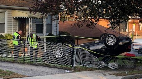 Four teenage pedestrians were struck by a car