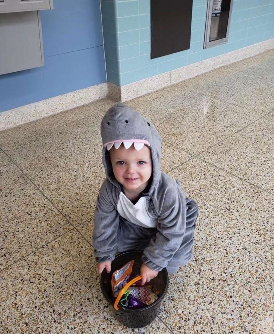 Landon Gallagher trick or treating at daycare!