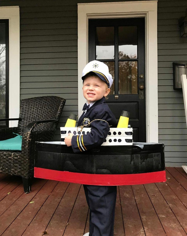 Captain Edward J. Smith commandeering the titanic