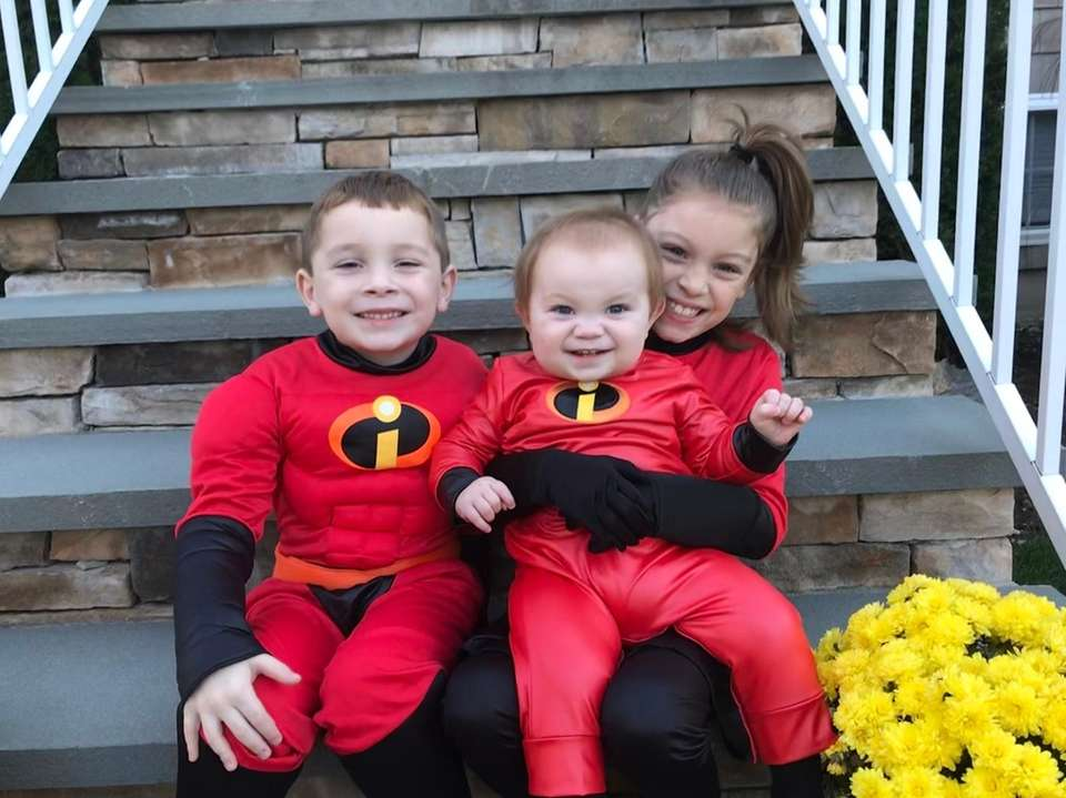 Abigail, Jacob and Luke as the Incredibles