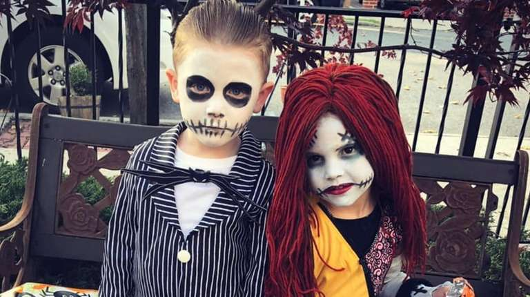 Jack Skellington and Sally from Nightmare before Christmas