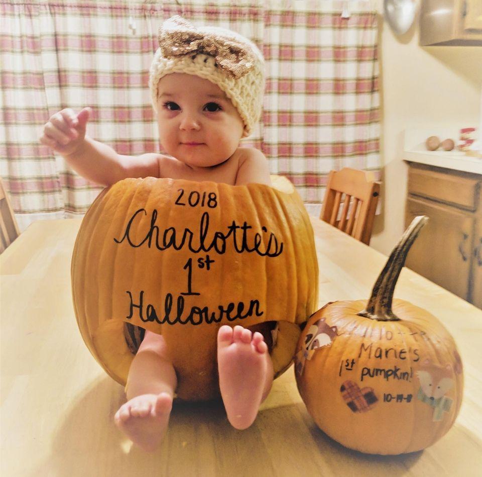 Happy 1st Halloween Charlotte Nickel Proud parents Steve