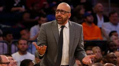 Head coach David Fizdale of the New York