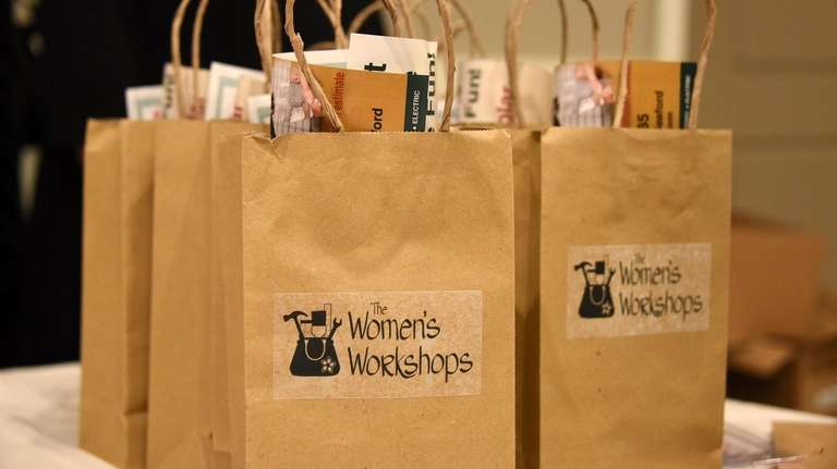 Goodie bags at The Women's Workshop fix-it-yourself class