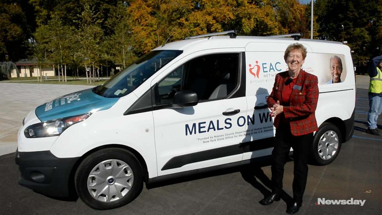 PSEG Long Island delivers keys to new food delivery van