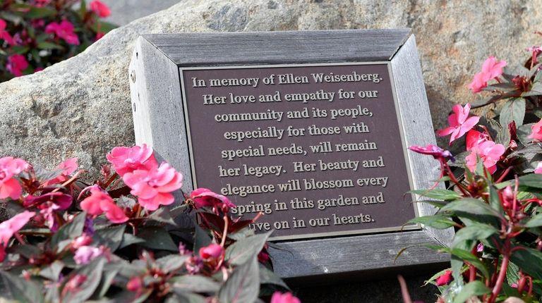 A small garden is dedicated to Ellen Weisenberg