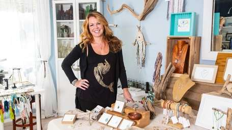 Heather Hallam, owner of Sea Glass & Sunsets,