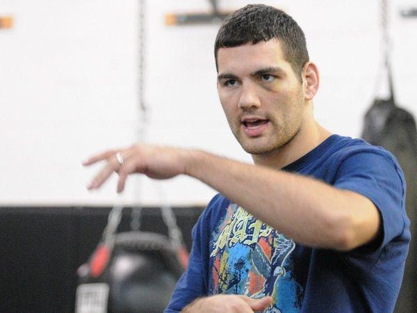 Mixed martial arts fighter Chris Weidman during a