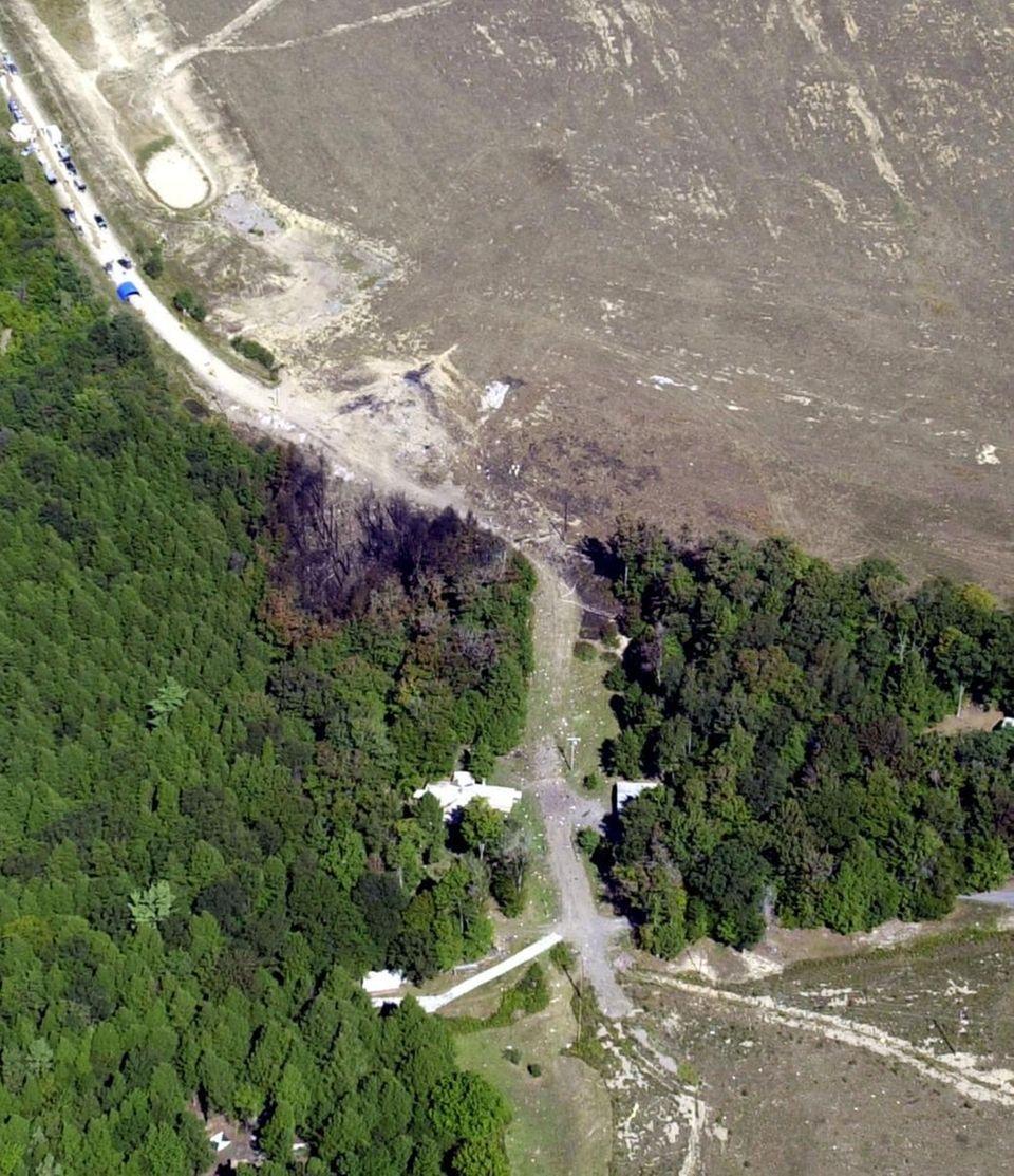 An FBI aerial photograph, taken Wednesday, Sept. 12,