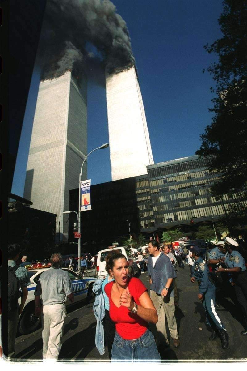 Rose Parascandola of Brooklyn flees the Twin Towers