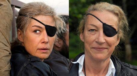 Rosamund Pike, left, plays war correspondent Marie Colvin