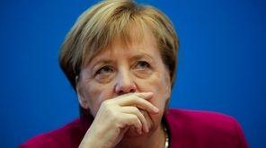 German Chancellor Angela Merkel attends a Christian Democratic