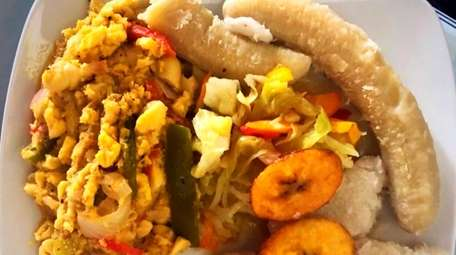 Ackee and saltfish, the national dish of Jamaica,