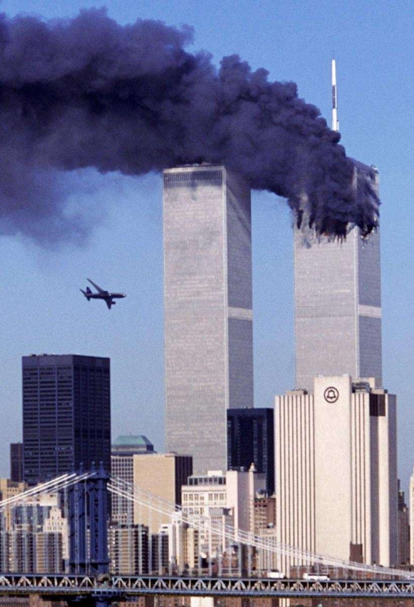 As the north tower of the World Trade