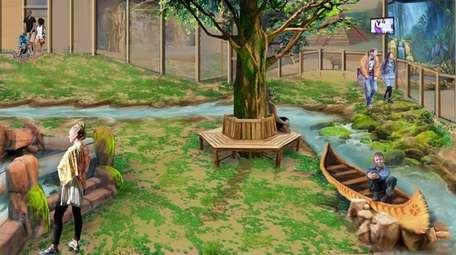 A rendering of the proposed interactive wildlife facilities