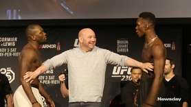 Israel Adesanya and Derek Brunson had a little