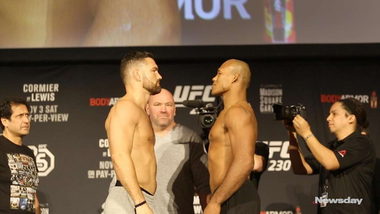 See some staredowns and scale-standing from fighters at