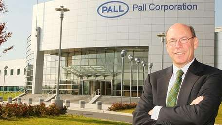 Pall Corp. chief executive Eric Krasnoff outside of